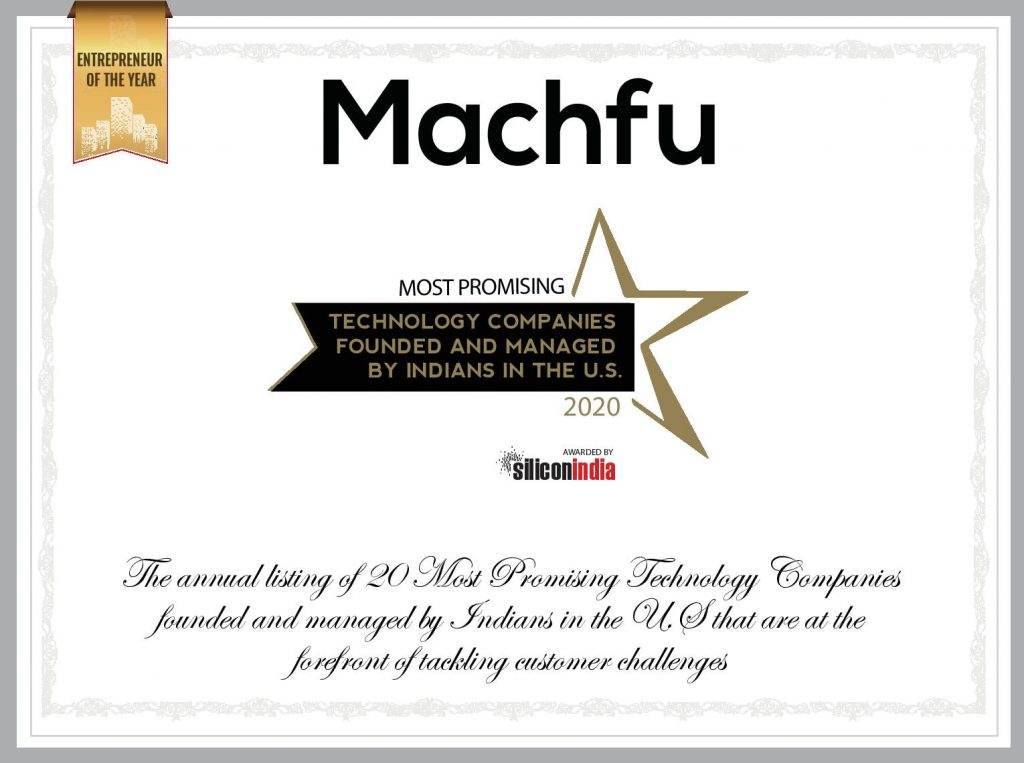 Machfu IIoT Solutions Award 2020